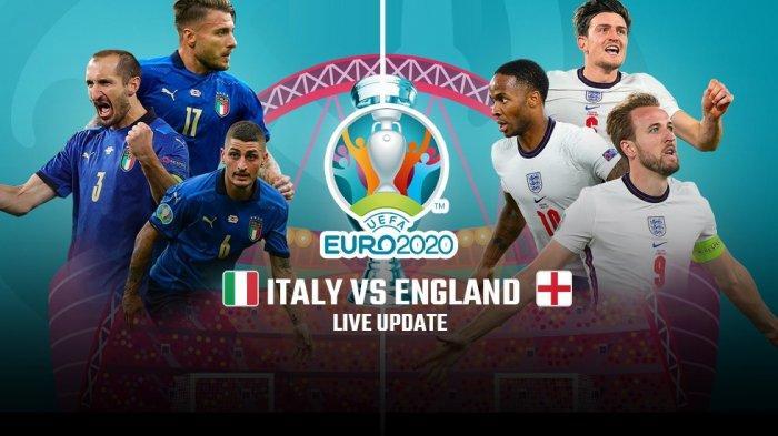 SEDANG BERLANGSUNG Live StreamingFinal Euro 2021 Italia vs Inggris, Tonton di Link Berikut Ini