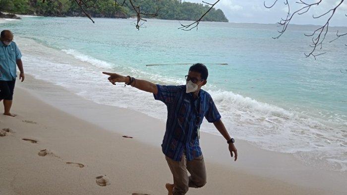 Menteri Pariwisata dan Ekonomi Kreatif RI Sandiaga Uno di Likupang