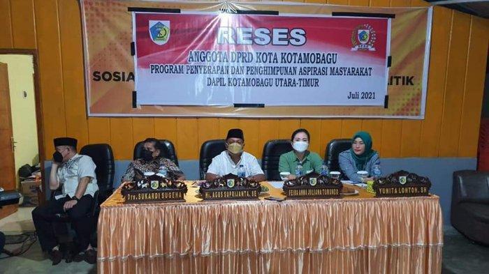 Anggota DPRD Kotamabagu Mulai Turun Serap Aspirasi Masyarakat di Dapil Masing-masing