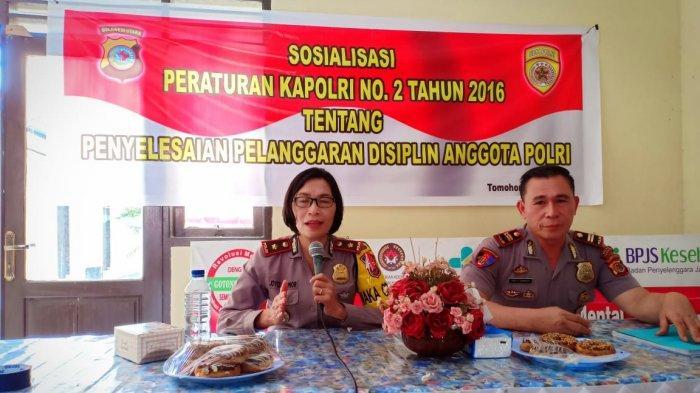 Sejumlah Anggota Polres Tomohon Dapat Sosialisasi Perkap Penyelesaian Disiplin