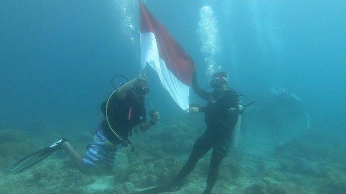 Refleksikan Kemerdekaan di Bawah Laut, Tololiu Cs Promosikan Pariwisata Mitra