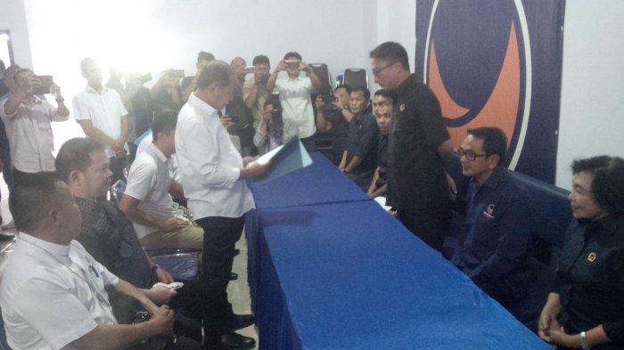 Isu Koalisi Nasdem dan PKPI di Pilkada 2020,Ketua PKPI Dampingi Lomban Daftar Calon Wali Kota
