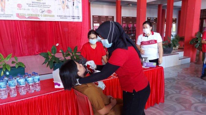 BREAKING NEWS, Jelang Masuk Sekolah, Ratusan Pelajar di Bitung Jalani Swab Antigen