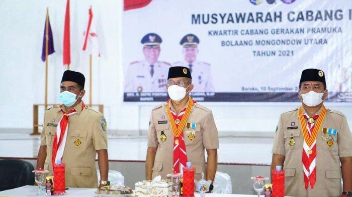 Sekda Asripan Nani Buka Musyawarah Cabang Ke III Pramuka Kabupaten Bolmut