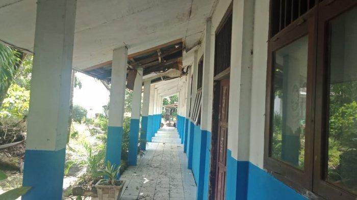 Sejumlah Bangunan SMPN 9 Manado Rusak, Dinding Retak dan Lantai Amblas