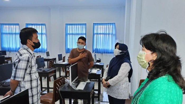 Sekda Kotamobagu Bersama Tim Meninjau Tempat Pelaksanaan Tes SKD CPNS Kotamobagu