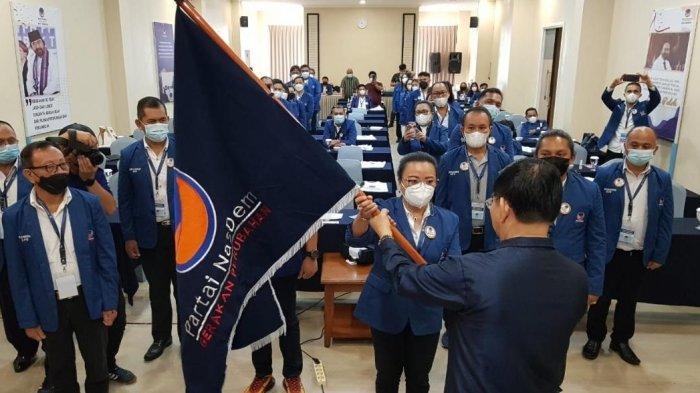 Dinakhodai Cherly Mantiri, Jajaran Pengurus DPD NasDem Tomohon Yang Baru Resmi Dilantik