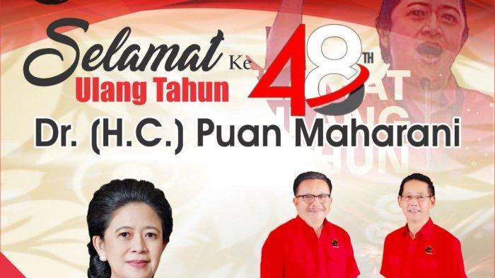 DPC PDI Perjuangan Kota Bitung Beri Ucapan Selamat HUT Ke-48 untuk Puan Maharani