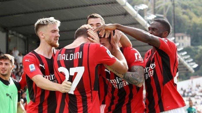 Hasil Sementara AC Milan vs Atletico Madrid, Diwarnai Kartu Merah, Rossoneri Unggul 1-0