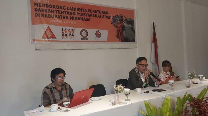 Seminar dan Lokakarya Mendorong Lahirnya Perda Masyarakat Adat di Minahasa