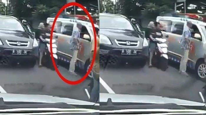 VIDEO Detik-detik Sopir Ambulans Dipukul Pengendara Toyota Clay saat Bawa Jenazah
