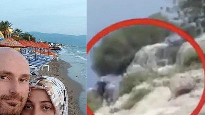 Video Detik-detik Pria Tega Dorong Istri yang Hamil ke Tebing Setinggi 304 Meter, Demi Harta Ro 1 M