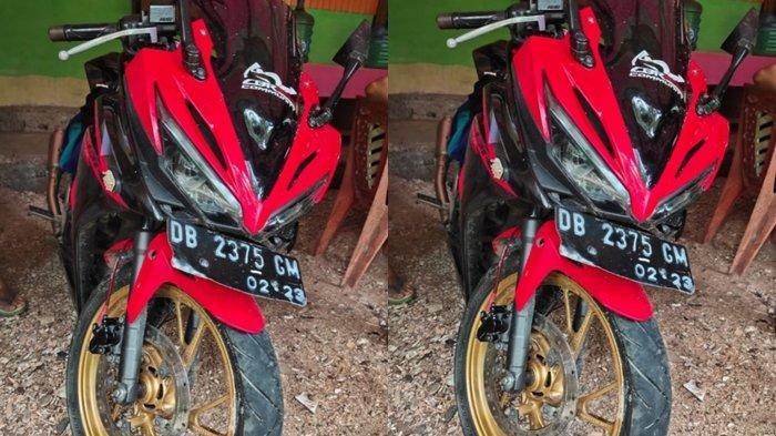 sepeda motor barang bukti lakalantas