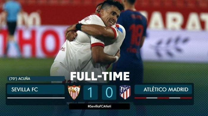 Hasil dan Klasemen Liga Spanyol Usai Sevilla vs Atletico Madrid: Suarez Cs Tumbang, Barcelona?
