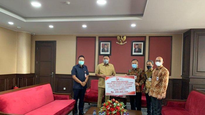 Silaturahmi dengan Gubernur, FKIJK Sulut Serahkan Donasi 1.500 Paket Bahan Pokok