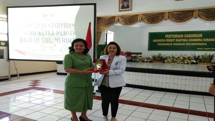 Bawa Materi di Pertemuan Anggota Persit, dr Diane Paparang, Sp.GK Ingatkan Atur Pola Makan