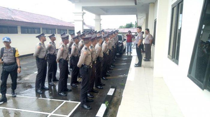 24 Siswa SPN Polda Sulut Ikut Latihan Kerja di Polres Minahasa