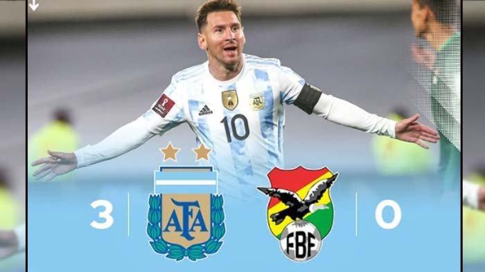 Skor Argentina VS Bolivia, Berakhir 3-0, Lionel Messi Menangis Usai Mencetak Hattrick