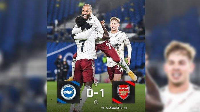 SKOR Brighton VS Arsenal, Liga Inggris Rabu 30 Desember 2020