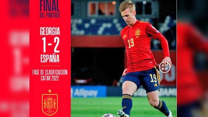 Skor akhir Georgia VS Spanyol