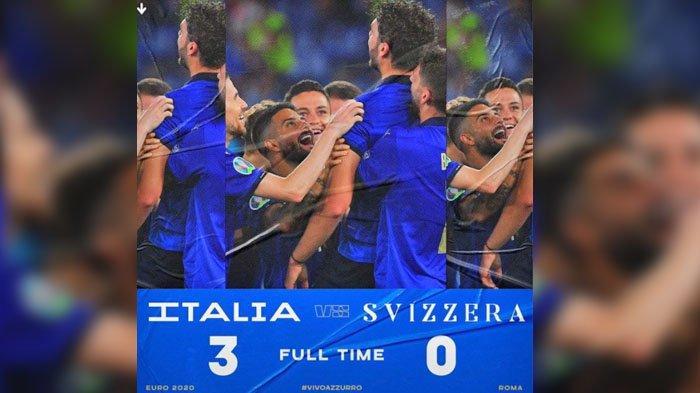 HASIL Italia VS Swiss 3-0, Gli Azzurri Menang, Dua Gol Manuel Locatelli, 1 Gol Ciro Immobile