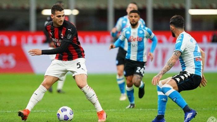 HASIL AC Milan vs Napoli, Rossoneri Takluk 0-1, Tertinggal 9 Poin dari Inter Milan