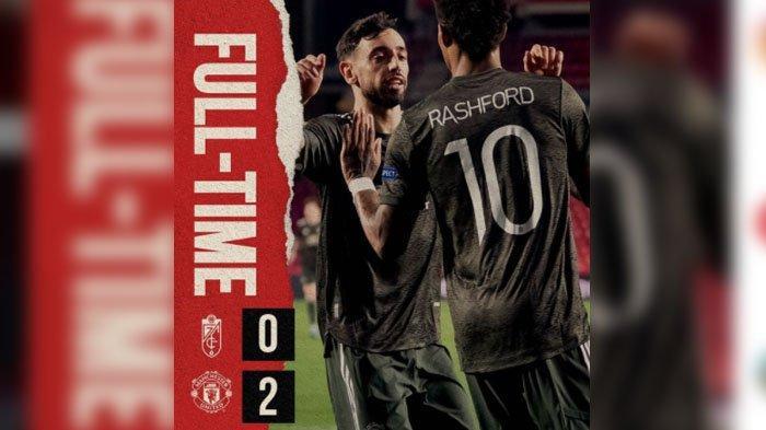 Skor Granada vs Manchester United, Liga Eropa Babak Perempat Final Leg Pertama