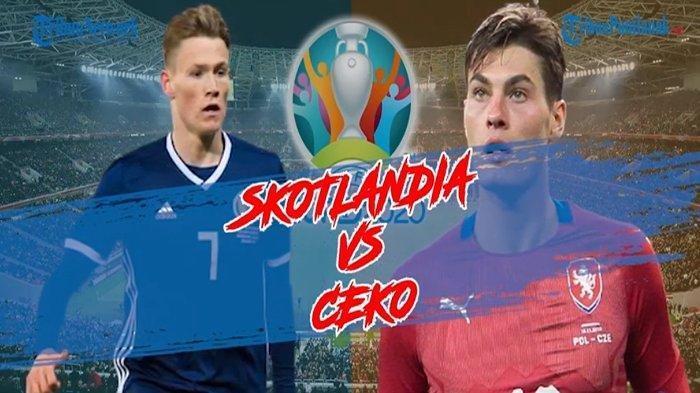 HASIL Pertandingan Euro 2020, Ceko Berhasil Tumbangkan Skotlandia 2-0, Pimpin Sementara Grup D