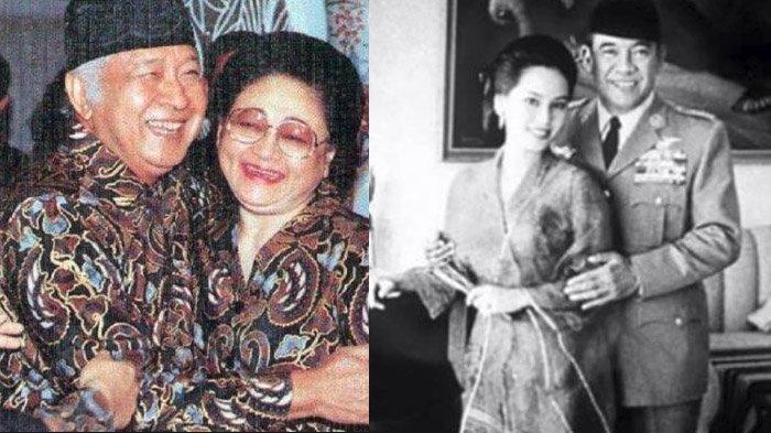 Ketika Bung Karno Lengser Ibu Tien Cemburu Soeharto Temui Istri Soekarno Ratna Sari Dewi Diam Diam Tribun Manado