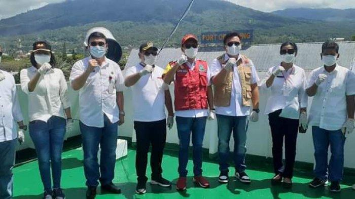 Joune Ganda Hadiri Soft Launching Tempat Isolasi Apung KM Tatamailau