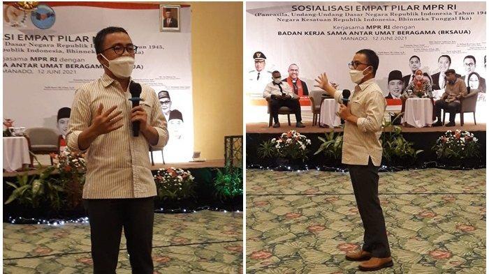 Sosialisasi Empat Pilar MPR RI di Manado,Senator Stefanus Liow Ajak Tokoh Agama Rawat Kerukunan