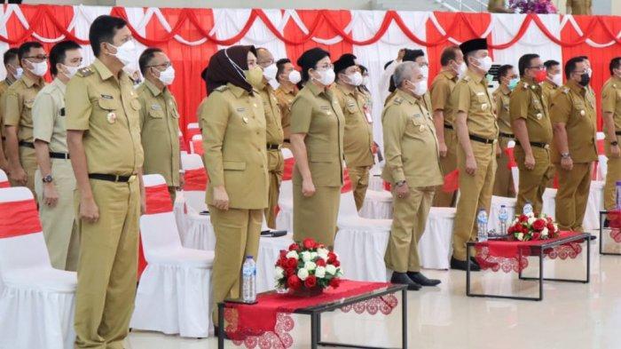 Sosialisasi penerapan manajemen kinerja, tata cara pengisian Jabatan Pimpinan Tinggi (JPT) dan disiplin kinerja PNS oleh Komisi Aparatur Sipil Negara (KASN).