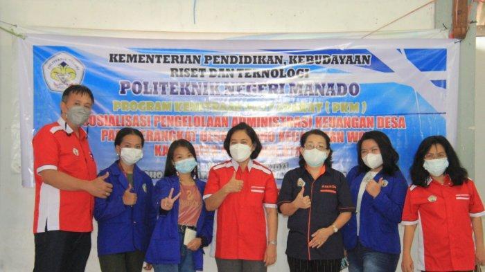 Politeknik Negeri Manado Beri Pelatihan Pengelolaan Administrasi Keuangan ke Desa Tiwoho