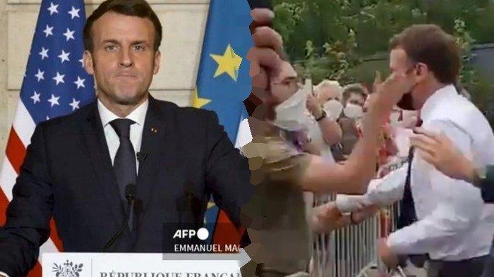 Sosok Presiden Prancis Emmanuel Macron yang Ditampar Pria Tak Dikenal Meski Dikawal 'Paspampres'