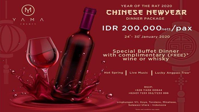 Special Chinese New Year 2020 Dinner Package Dari Yama Resort, Cek Yuk!