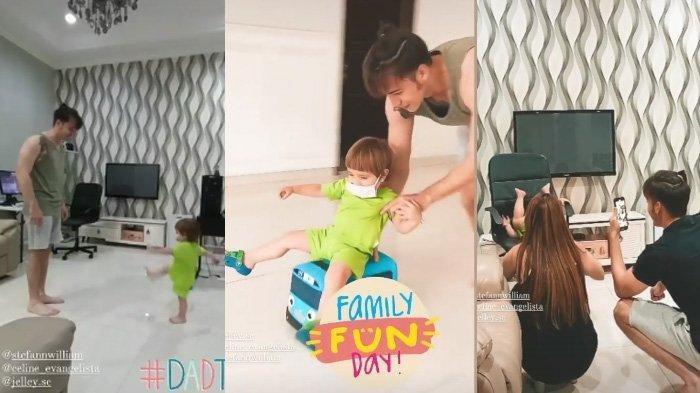 Potret Stefan William Pulang ke Rumah Bertemu Celine Evangelista, Kompak Bermain Bersama Anak-anak