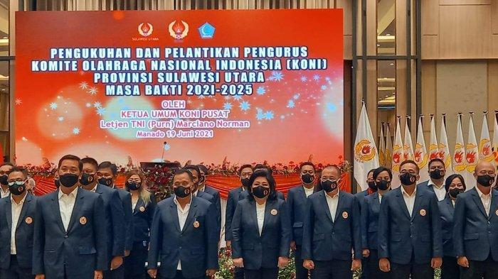 Steven Kandouw Dilantik Ketua Umum KONI Sulut, Letjen (Purn) Marciano Norman Sambangi Sulawesi Utara