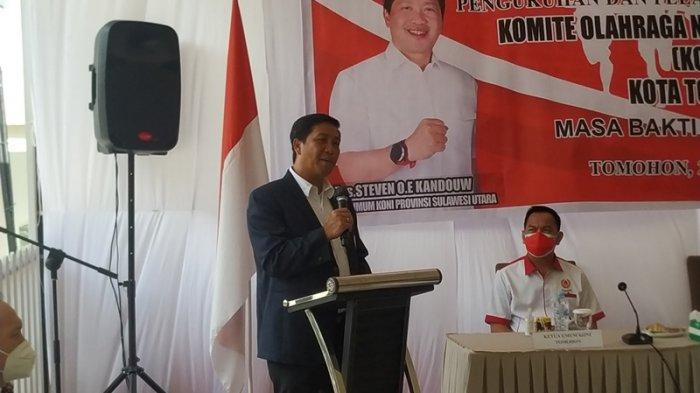 Steven Kandouw Lantik Pengurus KONI Tomohon 2021-2025, Beber 3 Subtansi Olahraga
