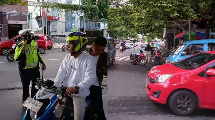 Satlantas Polresta Manado Tertibkan Pengendara yang Tidak Pakai Helm di Pos Zero Point