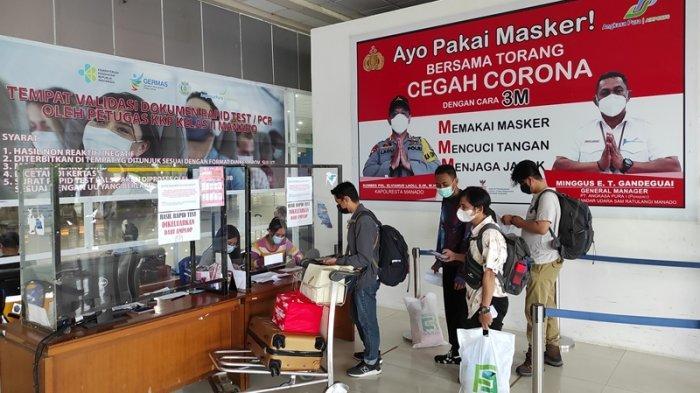 Selang Masa Larangan Mudik, Penumpang di Bandara Samrat Manado 1.979 Orang