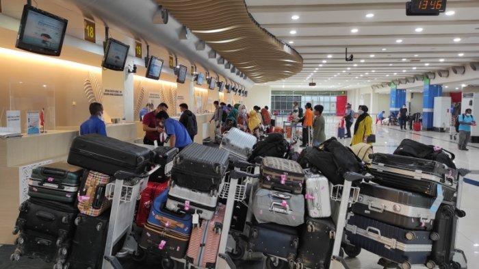 H-1 Larangan Mudik, Jumlah Penumpang di Bandara Samrat Manado Melonjak