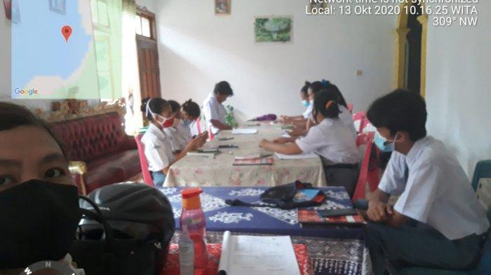 Suasana Kegiatan belajar mengajar saat PJJ LURING