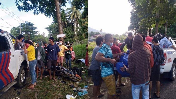 BREAKING NEWS Kecelakaan Maut di Desa Lembean Minut, Mobil Hancur Dua Korban Meninggal