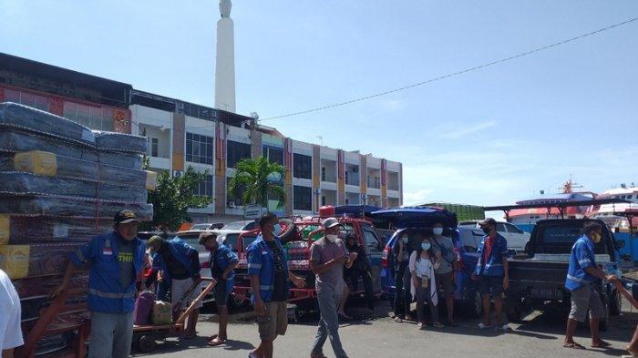 Handri Pulang ke Talaud Lebih Awal, Lolos dari Larangan Mudik Idul Fitri, Situasi Pelabuhan Manado