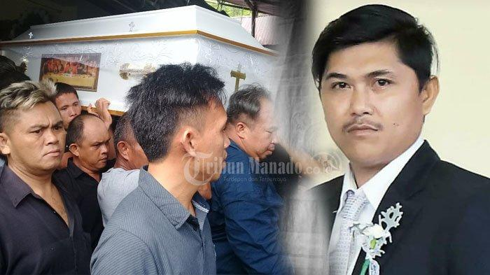 Suasana Pemakaman Novel Kalengkongan Korban Penikaman di Warukapas Minut, Ada Foto-foto!