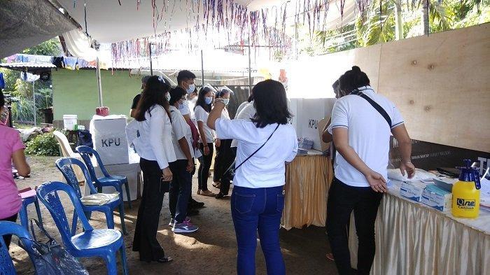 Suasana Pilkada Masa Pandemi di Bolmong, Warga Berbondong Bondong, Protokol Covid Tak Diabaikan