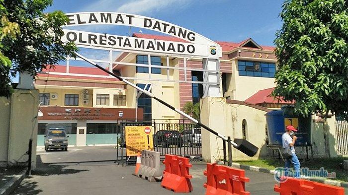 Suasana Polresta Manado hari ini Senin 19 Juli 2021.