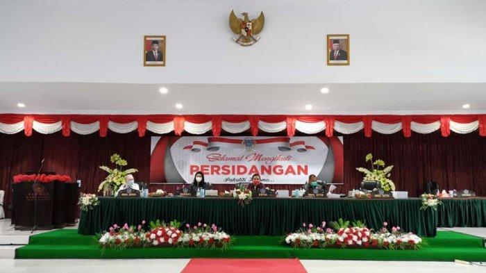 DPRD Sitaro Gulirkan Ranperda Pertanggungjawaban Pelaksanaan APBD Tahun 2020
