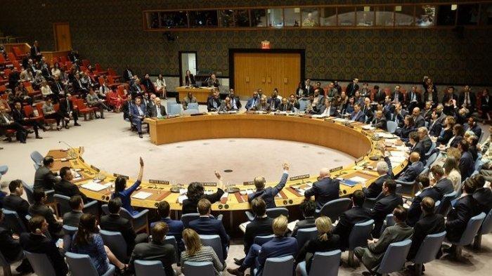 Suasana sebuah sidang Dewan Keamanan PBB.