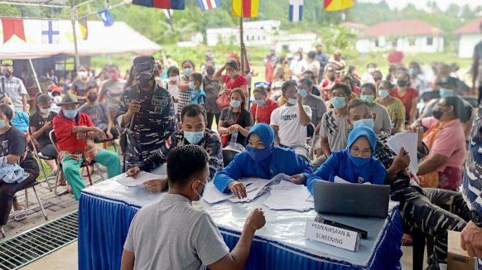 Lanal Melonguane Klaim Lebih dari 1.700 Warga Talaud Telah Divaksin